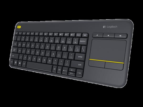 Teclado Logitech K400 Plus Inalambrico + Mouse Tactil